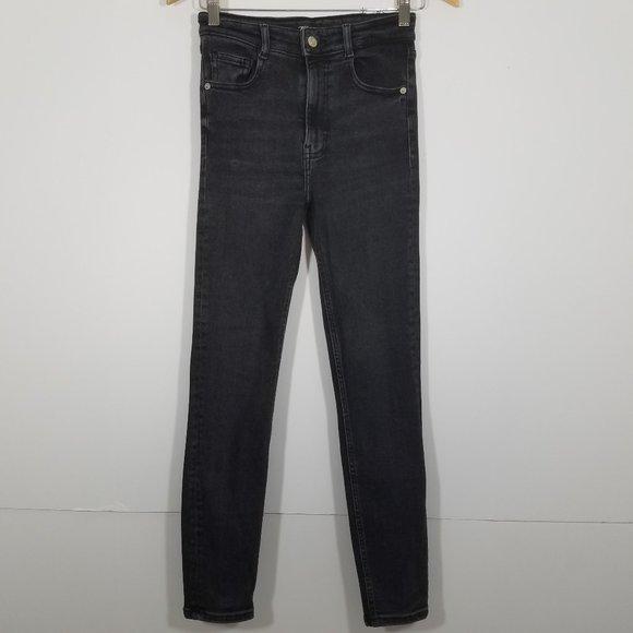 Zara High Waist Super Skinny Stretch Jeans Size 4